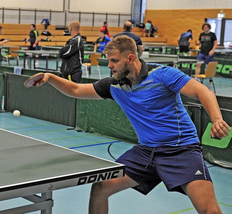 <BZ-FotoAnlauf>Tischtennis:</BZ-FotoAn...r) bei seinem Einsatz in Friesenheim.   | Foto: Pressebüro Schaller
