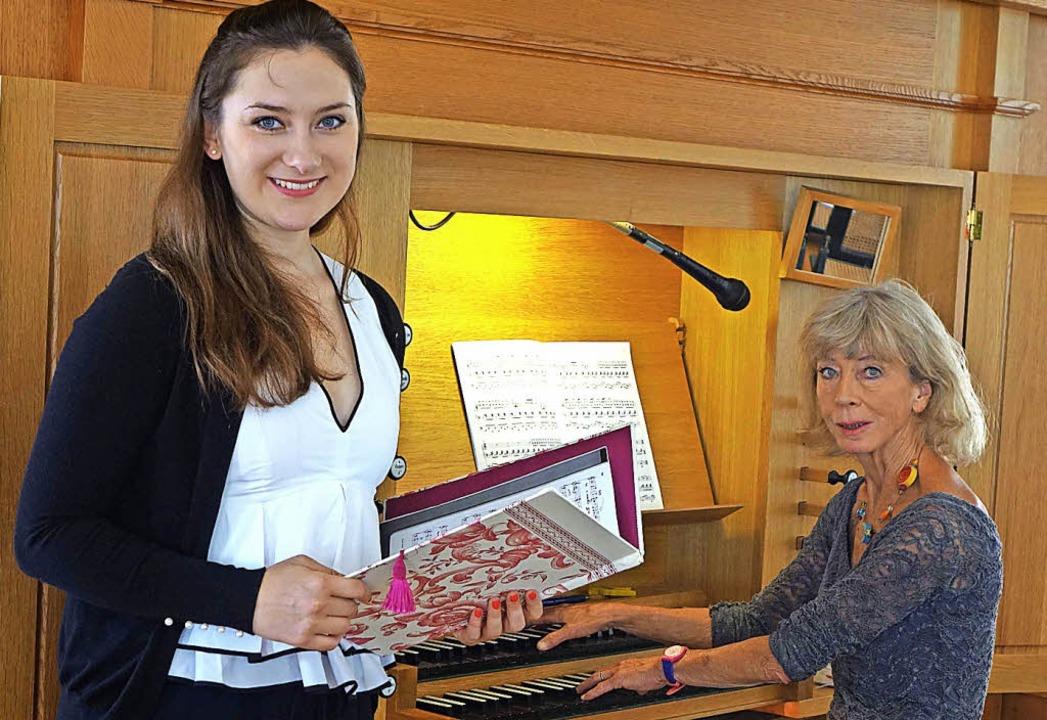 Orgel trifft Oper: Die Sopranistin And...d Tarr  in der Josefskirche in Herten   | Foto: Roswitha Frey