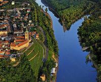 Radwandern an der tschechischen Elbe