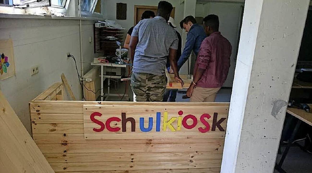 An  der Hauswirtschaftlichen Schule Ba...kingen wurde ein neuer  Kiosk gebaut.   | Foto: Hauswirtschaftliche Schule