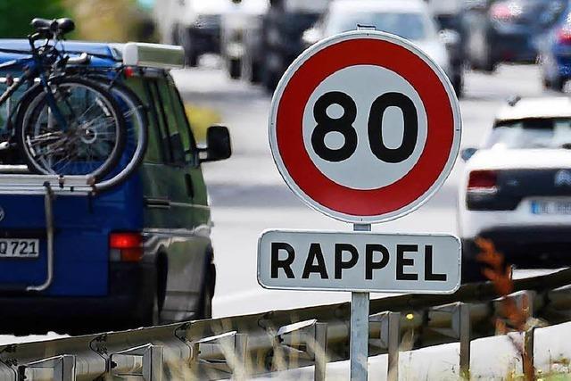 Ab Sonntag gilt Tempo 80 auf den meisten Landstraßen in Frankreich