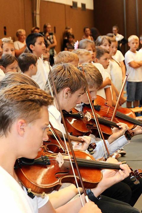 Die Streicher des Vororchesters des Si...rzwald zeigten ihr Können bei Da capo. | Foto: Eva Korinth