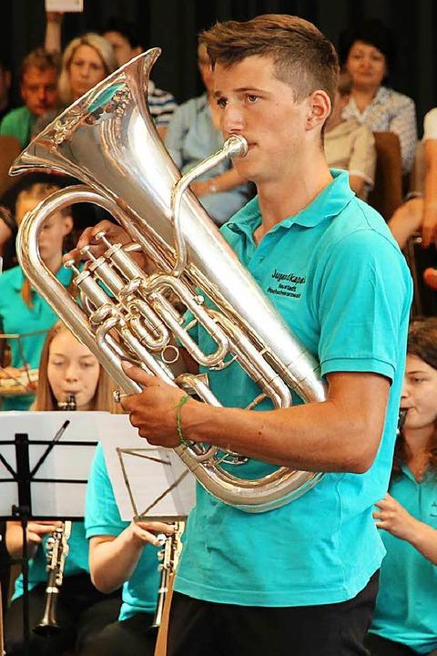 Solist Bruno Faller mit Euphonium. | Foto: Eva Korinth