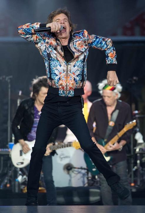 Micl Jagger in Stuttgart  | Foto: dpa