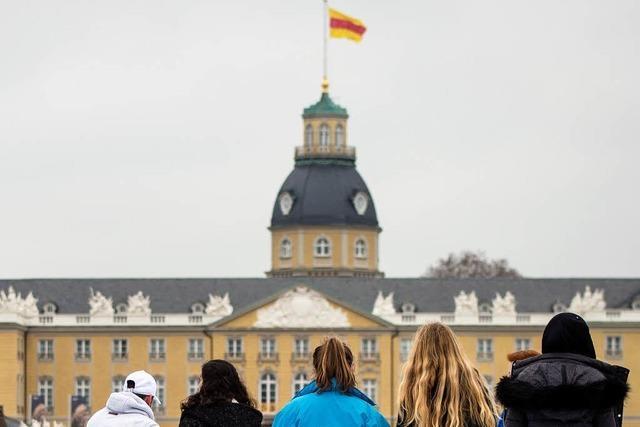 Die Baden-Fahne darf nicht mehr auf dem Karlsruher Schloss wehen