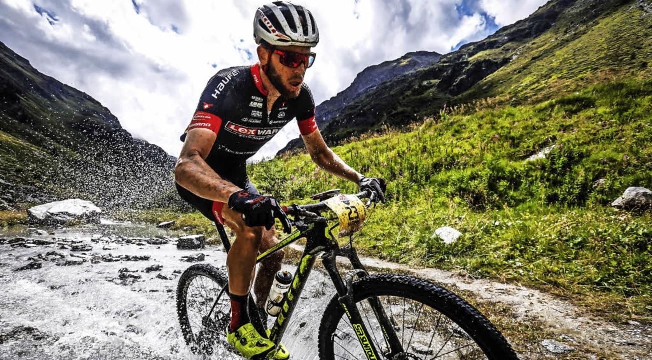 Matthias Bettinger ist Mountainbiker a...l ist der Breitnauer schwer gestürzt.   | Foto: küstenbrück