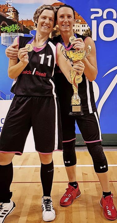 Gold-Frauen: Ozana Klein (links) und Mirna Paunovic   | Foto: ZBV