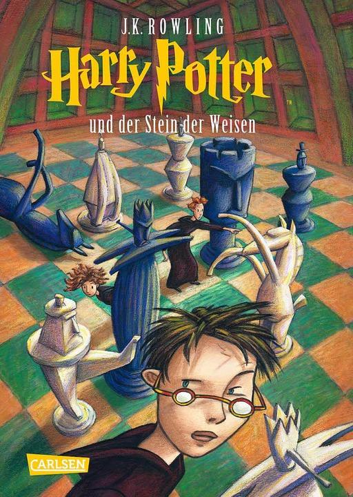 Der erste Harry Potter kam im Juli 199...Harry Potter und der Stein der Weisen.  | Foto: Carlsen Verlag