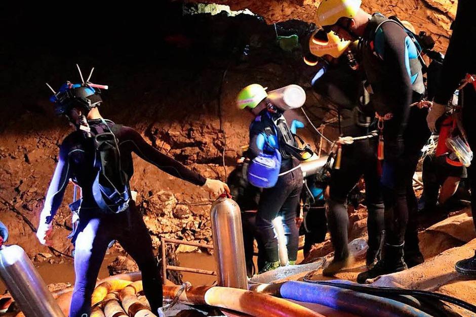Das Höhlendrama in Thailand (Foto: dpa)