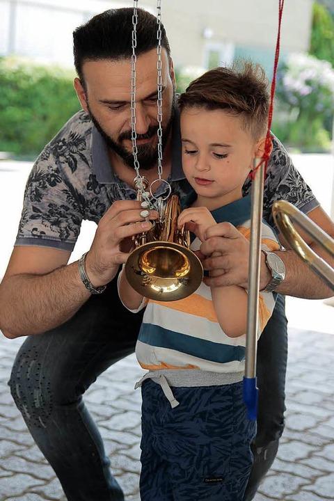 Blechblasinstrument zum Erklären.  | Foto: Anna Uhlmann