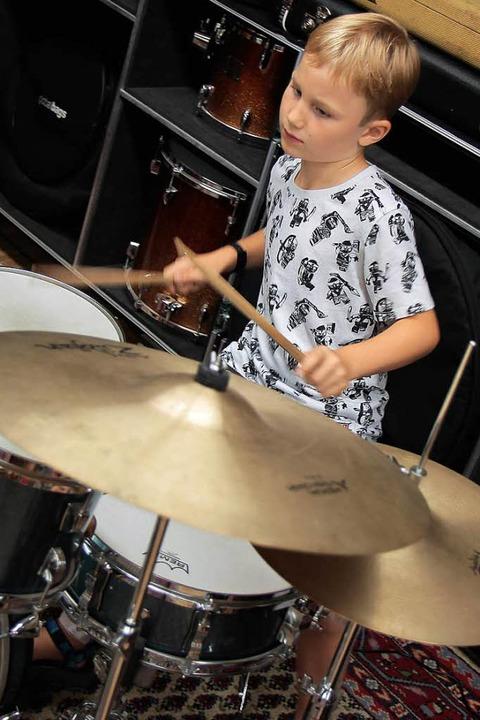 Kleine Musiker ganz groß.    Foto: Anna Uhlmann