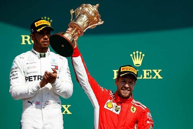 Sebastian Vettel gewinnt in Silverstone vor Lokalmatador Lewis Hamilton