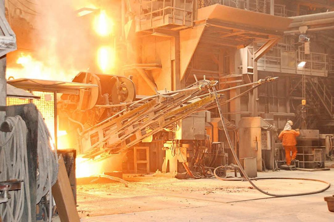 Bei der Stahlproduktion in Kehl geht e...– die Abwärme lässt sich nutzen.  | Foto: Bärbel Nückles