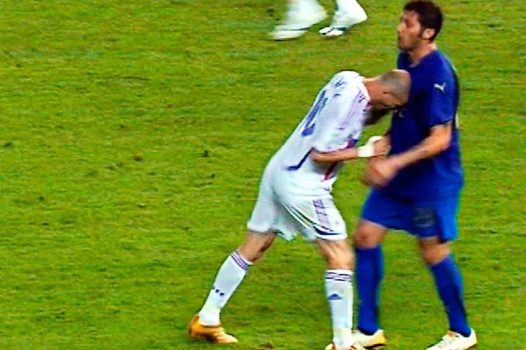 Unvergesslich: Zinedine Zidanes Kopfnuss  | Foto: AFP