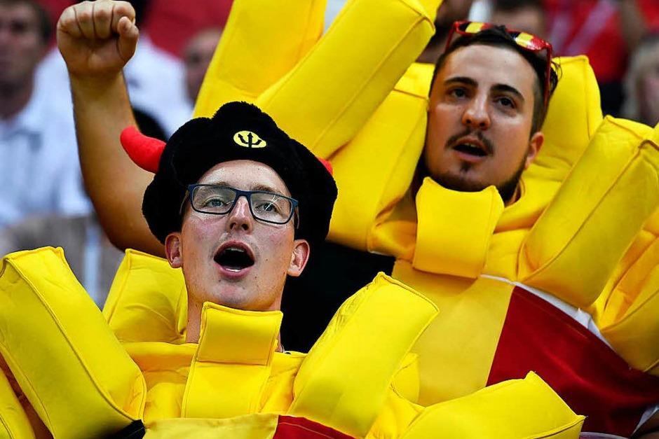 Belgische Fritten gehören zu den besten der Welt – die belgische Elf auf dem Platz nach diesem Turnier auch. (Foto: dpa)