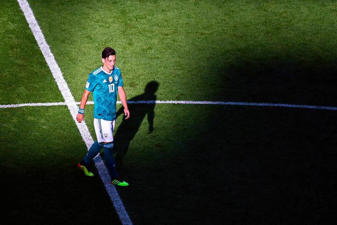 Mesut Özil bei der WM in Russland     Foto: dpa
