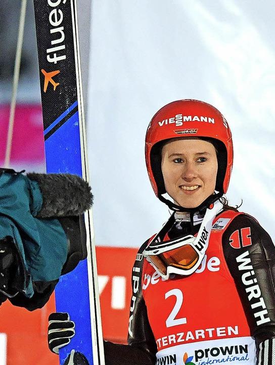 Erst seit einer Woche wieder im Sprung...e Ramona Straub vom SC Langenordnach.   | Foto: scheu
