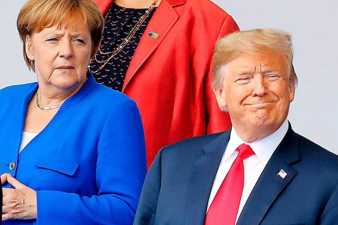 Merkel und Trump im offenen Konflikt  | Foto: AFP