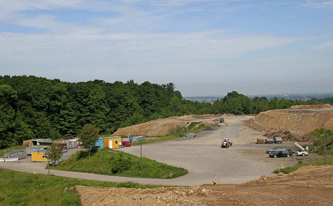 Die Erdaushubdeponie bei Rammersweier wird erweitert.   | Foto: rab
