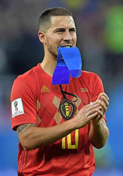 Eden Hazard hat am Halbfinal-Aus ziemlich zu knabbern.   | Foto: dpa