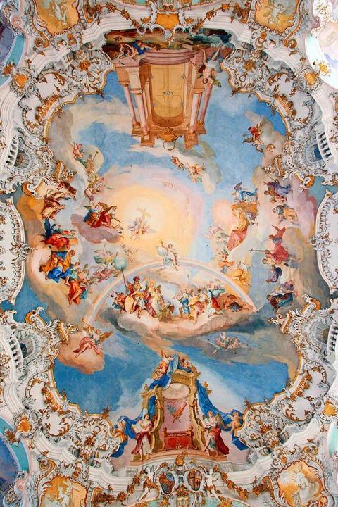 Ein Rokoko-Kleinod: die Decke der Wieskirche  | Foto: ©Tourismusverband Pfaffenwinkel