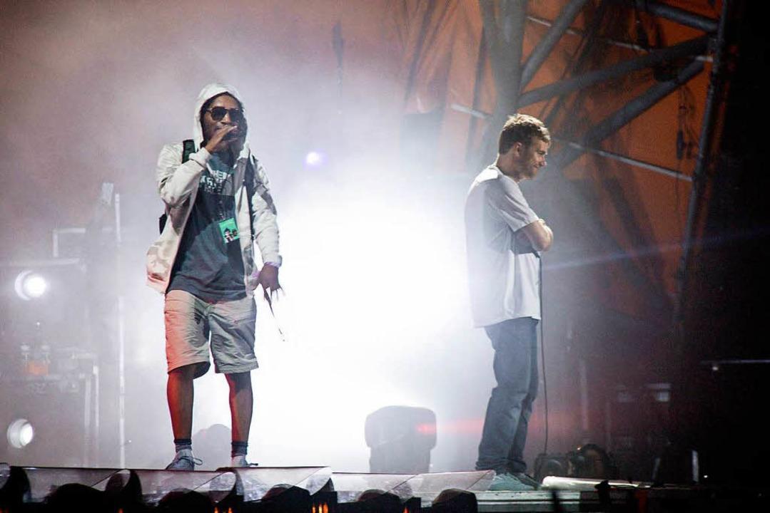 Der Rapper mit dem Künstlernamen Del t...bei dem Auftritt die Rippen gebrochen.  | Foto: dpa