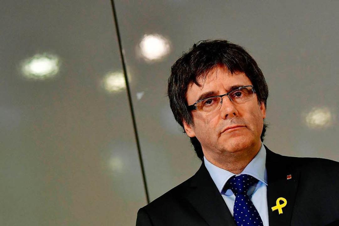 Der katalanische Separatistenführer Ca...t soll an Spanien ausgeliefert werden.  | Foto: AFP