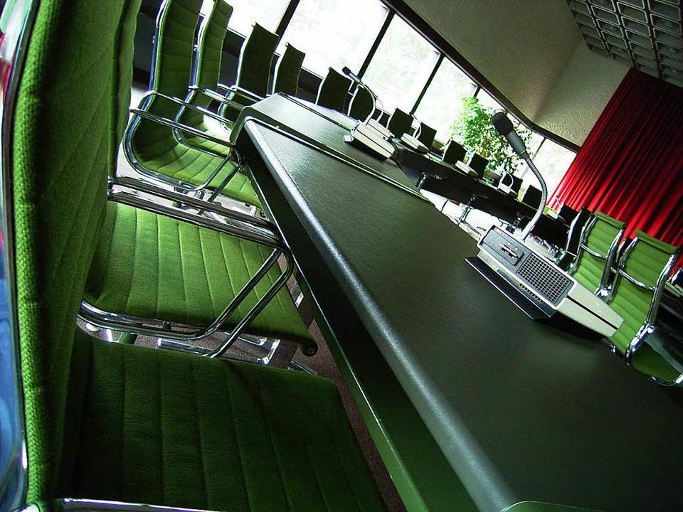 Sitzungssaal im Lörracher Gemeinderat  | Foto: Simone Höhl