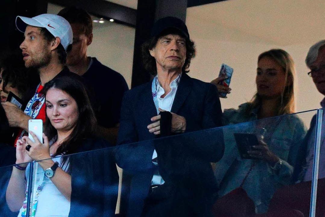 Mick Jagger im Stadion    Foto: dpa