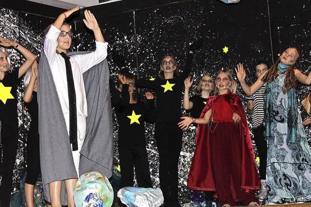 Schüler auf intergalaktischer Reise