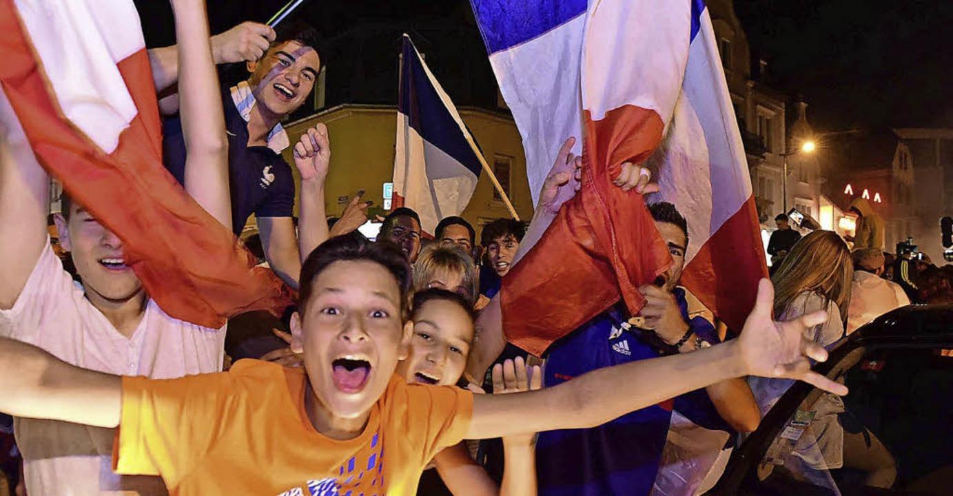 Ob Saint-Louis am Sonntag auch so jube...Sieg gegen Belgien, wird sich zeigen.   | Foto: Guy Greder