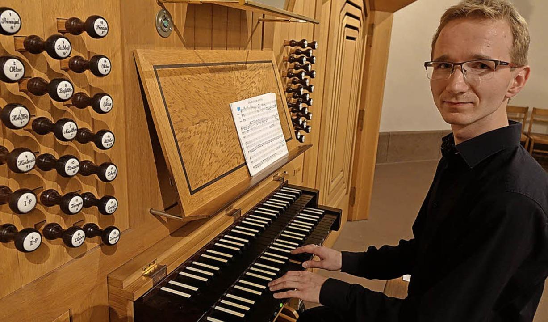 Michal Kocot aus Krakau gab ein brilla...onzert beim Schopfheimer Orgelsommer.   | Foto: Roswitha Frey