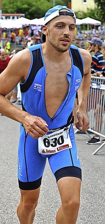 Vielversprechende Premiere: Der ehemal...lte erste Erfahrungen beim Triathlon.   | Foto: Murst