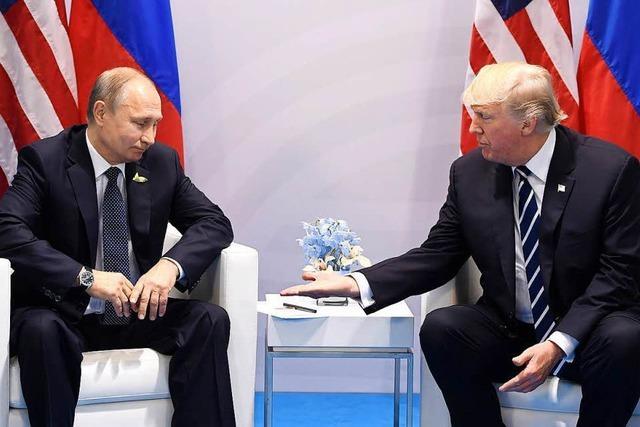 Trump und Putin: Freundliche Gesten, wenig Inhalt