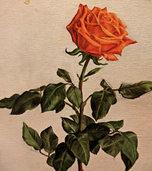 Tanzende Rosen auf Leinwand