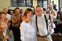 Das erste Paar hat in der Alten Schmiede in Mambach geheiratet