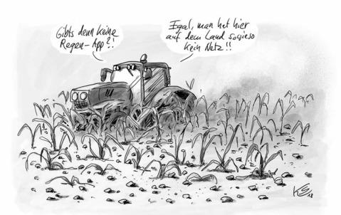Dürre in Deutschland ZEICHNUNG: STUTTMANN