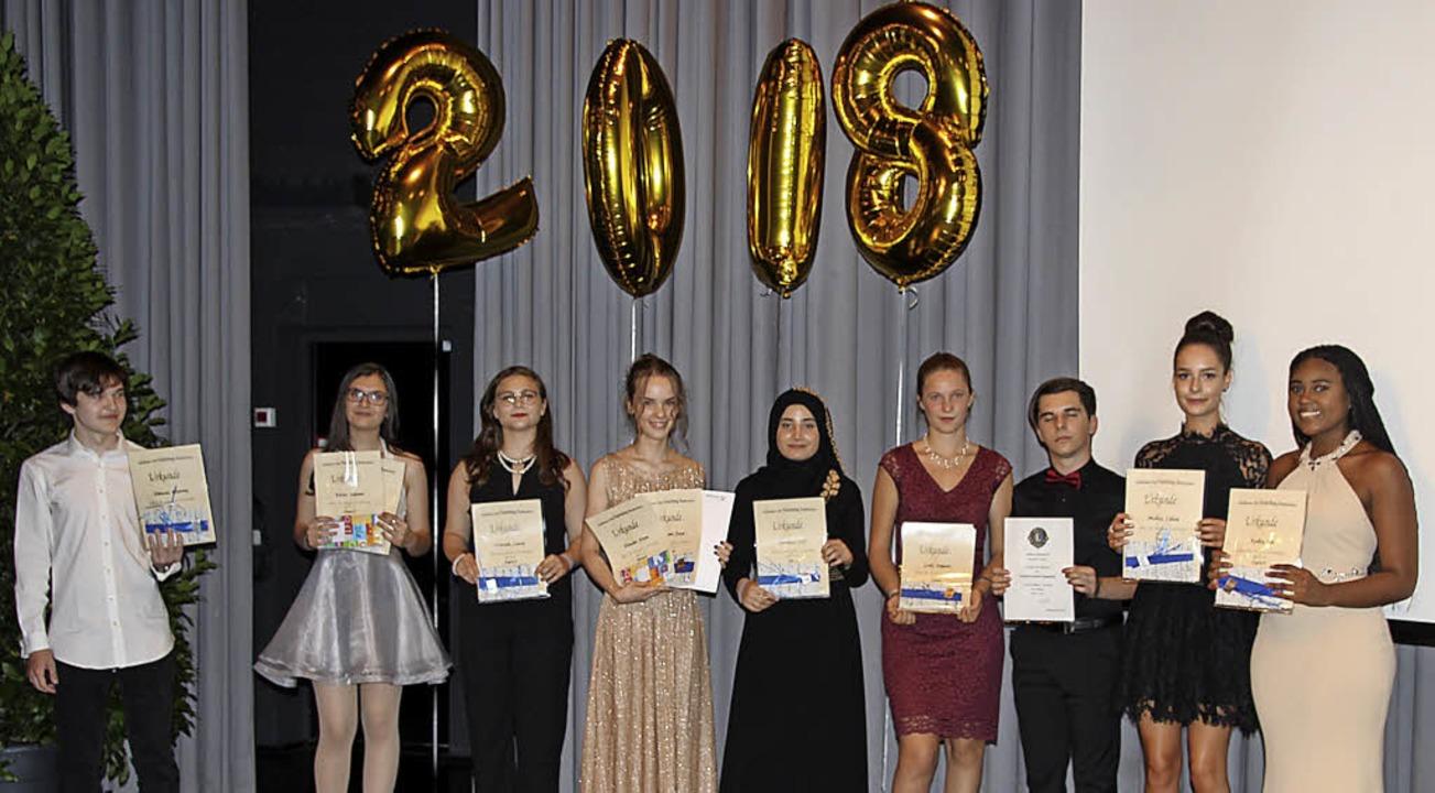 Abschlussfeier der Zehntklässler der M...on-Neuenburg Realschule:  Preisträger   | Foto: claudia Harter