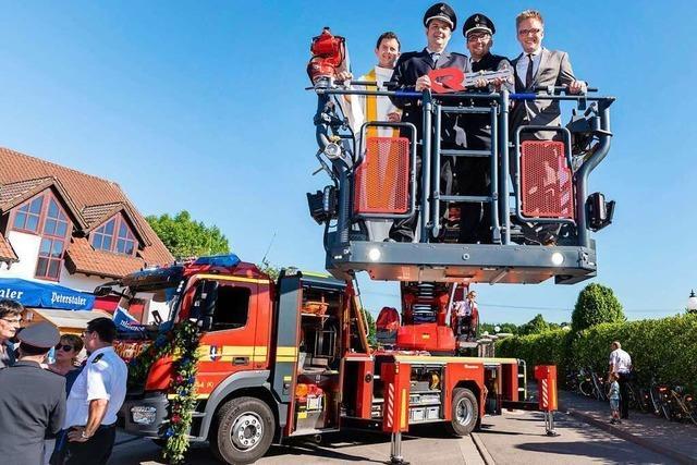 Beim Europa-Park-Brand wurde das Drehleiterfahrzeug der Feuerwehr Rust beschädigt
