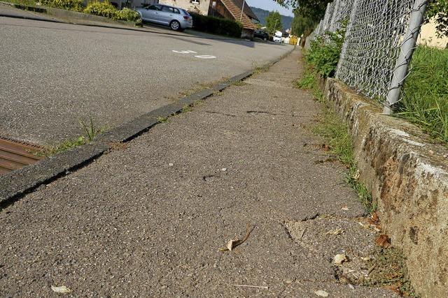 Straßen und Wege werden saniert