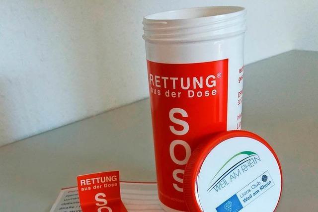 Projekt für Senioren: Die Rettungsdose kommt nach Weil am Rhein