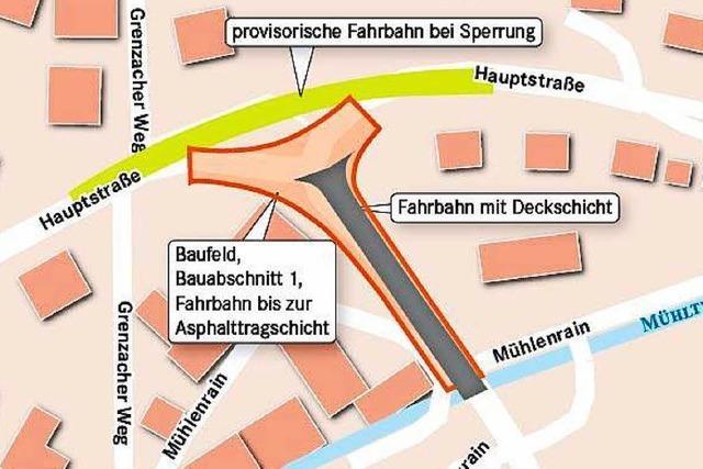 Umbau in Altweil beginnt, der Knoten zwischen Hauptstraße und Zollfreier wird für drei Monate gesperrt