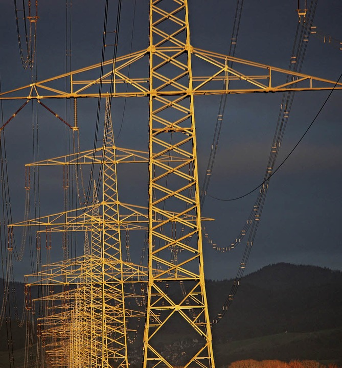 Durch  Überlandleitungen, wie sie BZ-L..., fließt auch der Strom nach Hartheim.  | Foto: Harald Höfler