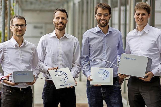 Die Etalinik-Technik der Firma Blue Inductive lädt Akkus von Maschinen und Fahrzeugen kabellos