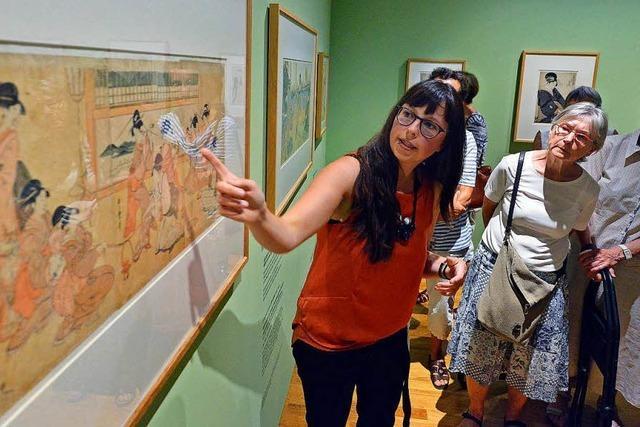 BZ-Leserinnen und Leser erfuhren durch Holzstempeldrucke mehr über Japan