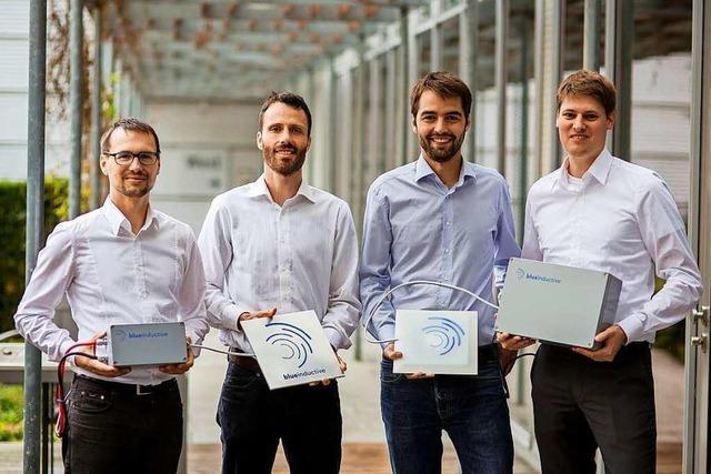 Technik der Freiburger Firma Blue Inductive lädt Akkus von Maschinen – ganz ohne Kabel