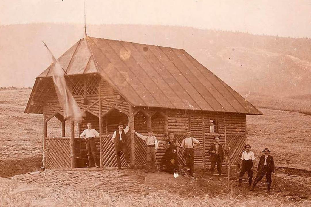 Die kleine Berglusthütte etwa 300 Mete...rhalb des heutigen Hauses im Jahr 1914  | Foto: Manfred Metzger (Repro)
