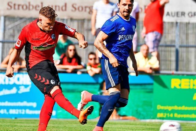 Der SC Freiburg gewinnt Testspiel in Ravensburg mit 9:1