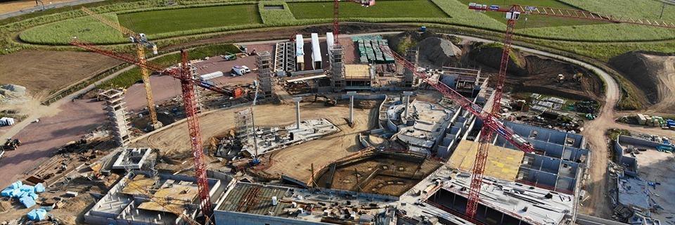 Die neue Wasserwelt Rulantica ist die größte Baustelle im Land