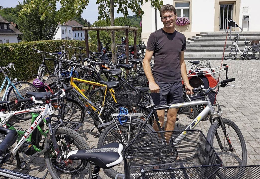 Arno Mattes ist ein Stadtradler in Au.  | Foto: Julius Steckmeister